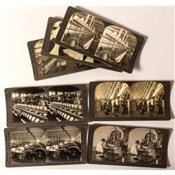 Silk & Cotton Manufacturing Stereoviews