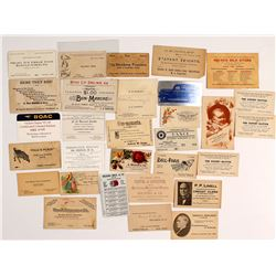 Eastern U.S. Business Cards, c.1875-1930s