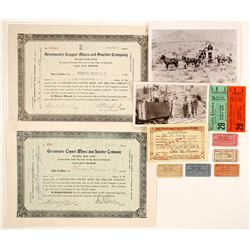Tonopah, NV Theatre Tickets, 2 Mining Stocks Hunting License and Desert Photo