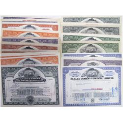 Canadian Cement Companies Stock Certificates