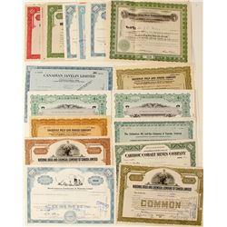 Canadian Industrial Companies Stock Certificates