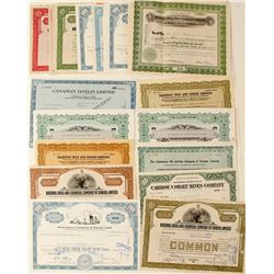 Canadian Industrial Companies Stock Certificates