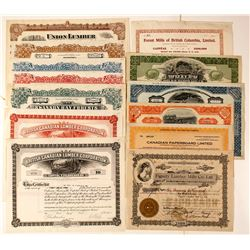 Canadian Lumber Stock Certificates
