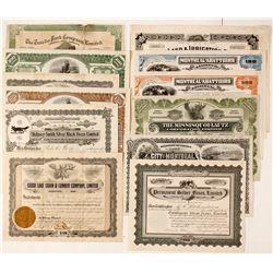 Canadian Wildlife Stock Certificates