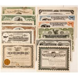 Canadian Wildlife Stock Certificates