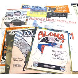22 Vintage Sheet Music Pieces