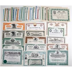 50 Mostly Different Stock Certificates