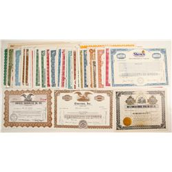 Dealers Lot of Stock Certificates