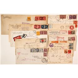 Registered and Early Air Mail Postal Covers