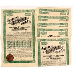 Six American Smokeless Coal Co. Gold Bonds