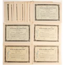 Death Valley Copper Mine Stock Certs. (Approx.40)