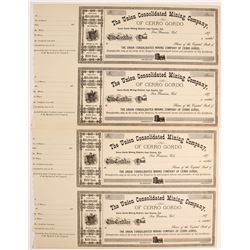 Union Consolidated Mining Company Stock Certificates