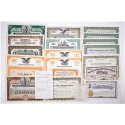 California Mining and Petroleum Stock Certificates