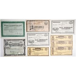 California Mining Certificates (8)