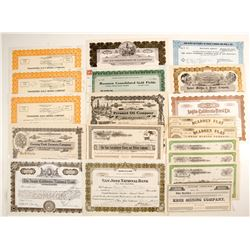 California Mining Stock Certificates