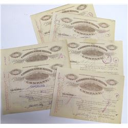 Favorite Gold Mining Co. Stock Certificates, Cripple Creek