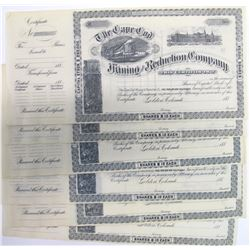 Cape Cod Mining & Reduction Co. Stock Certificates