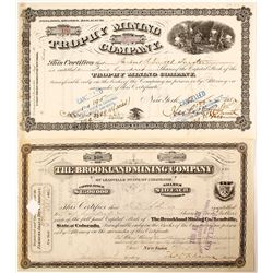 Two 1880's Colorado Mining Stocks