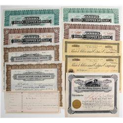 Montana Mining Stock Certificates