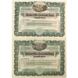 Pittsburg Silver Peak Gold Mining Stock Certificates