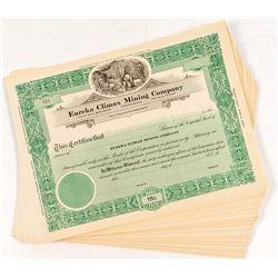 Eureka Climax Mining Stock Certificates