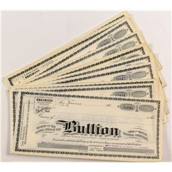 Bullion Gold and Silver Mining Stock Certificates (40+)