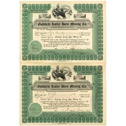 Goldfield Lucky Boys Mining Co. Stock Certificates