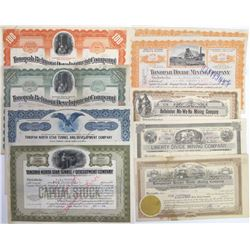 Tonopah Mining Stock Certificate Collection