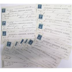 20 Territorial Virginia City, Nevada Checks signed by Charles Strong