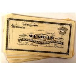 Group of 50 Mexican Gold & Silver Mining Company Stock Certificates