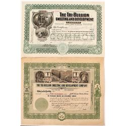 Two Tri-Bullion Smelting and Development Company Stock Certificates