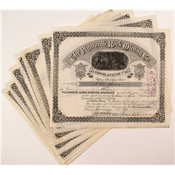 Plymouth Rock Mining Co. Stock Certificates (8)