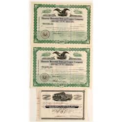 New Mexico Mining Stock Certs. (3)