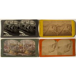 Four Stereoview Cards, Mining & Misc.