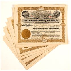 American Consolidated Mining & Milling Co Stocks Certs.