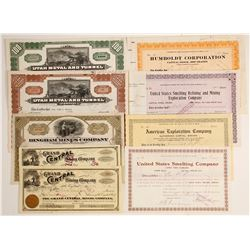 Utah Metal & Tunnel Co. Stock Certs. (Misc. Stock Certs)