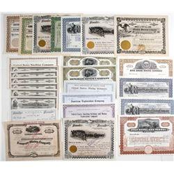 Utah-Related Mining Stock Certificates