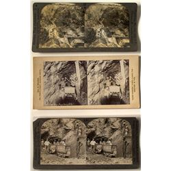 3 South Africa Diamond Mining Stereoviews
