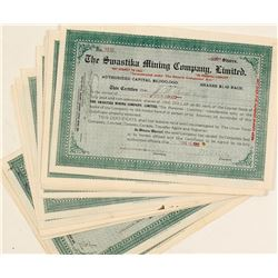 Swastika Mining Company, Ltd. Stock Certificate Collection