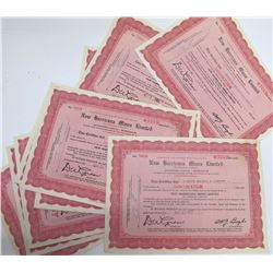 New Harricana Mines Ltd. Stock Certificates, Quebec