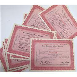 New Harricana Mines Ltd. Stock Certificates, Quebec