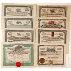 Canadian Oil Stock Certificates - pre-1920