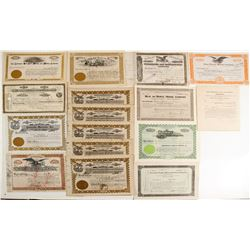 Assorted American Mining Stock Certs. (15)