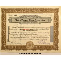 United Eastern Mines Corp. Stock Certificates