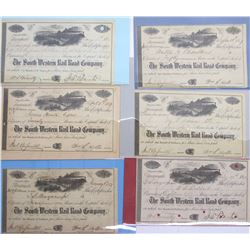 South Western Rail Road Co. Stock Certificates (6)