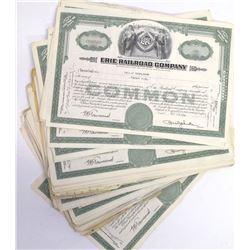 Erie Railroad Company Stock Certificate Archive