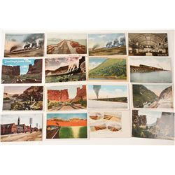 Utah Railroad Related Postcard Collection