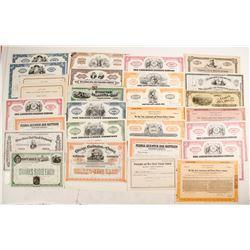 Railroad and Auto Stock Certificates