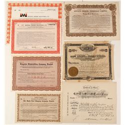 Canadian Steamship Company Stock Certificates