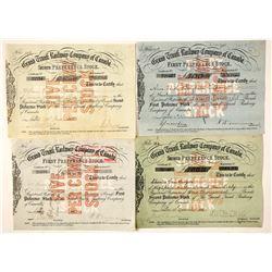 Grand Trunk Railway Company Stock Certificates